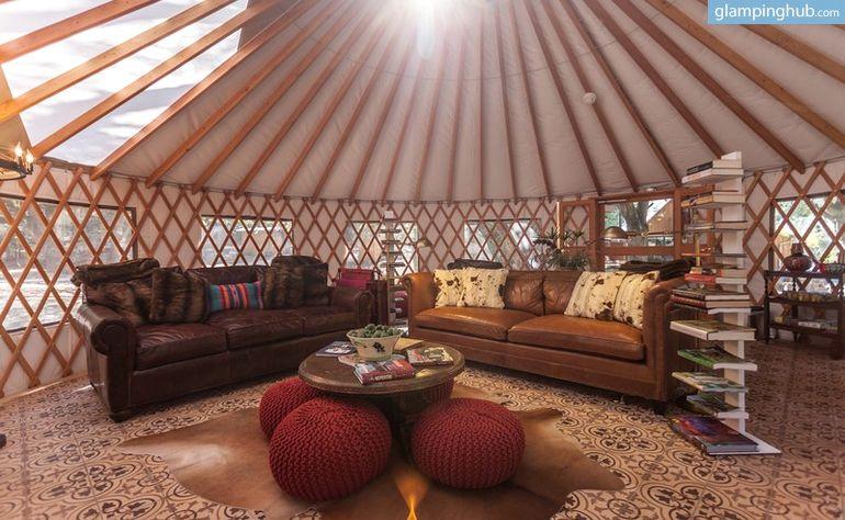 elegant yurt tucked beneath oak trees on southern california ranch