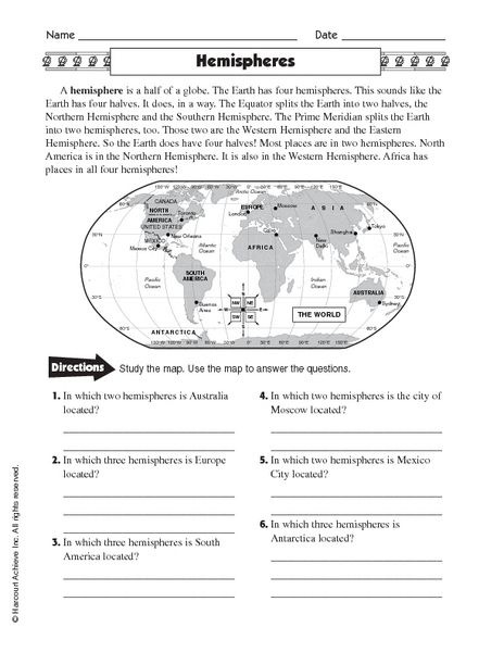 Image result for hemisphere worksheets 6th grade geography for 6th image result for hemisphere worksheets 6th grade gumiabroncs Images