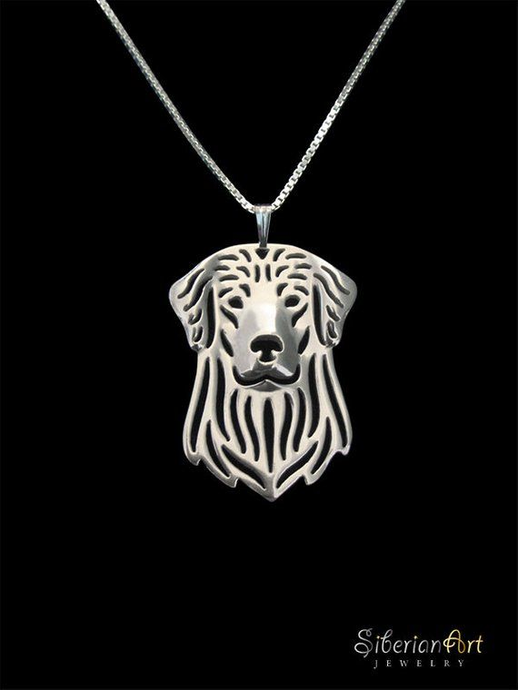 Golden Retriever Jewelry Sterling Silver Pendant And Necklace