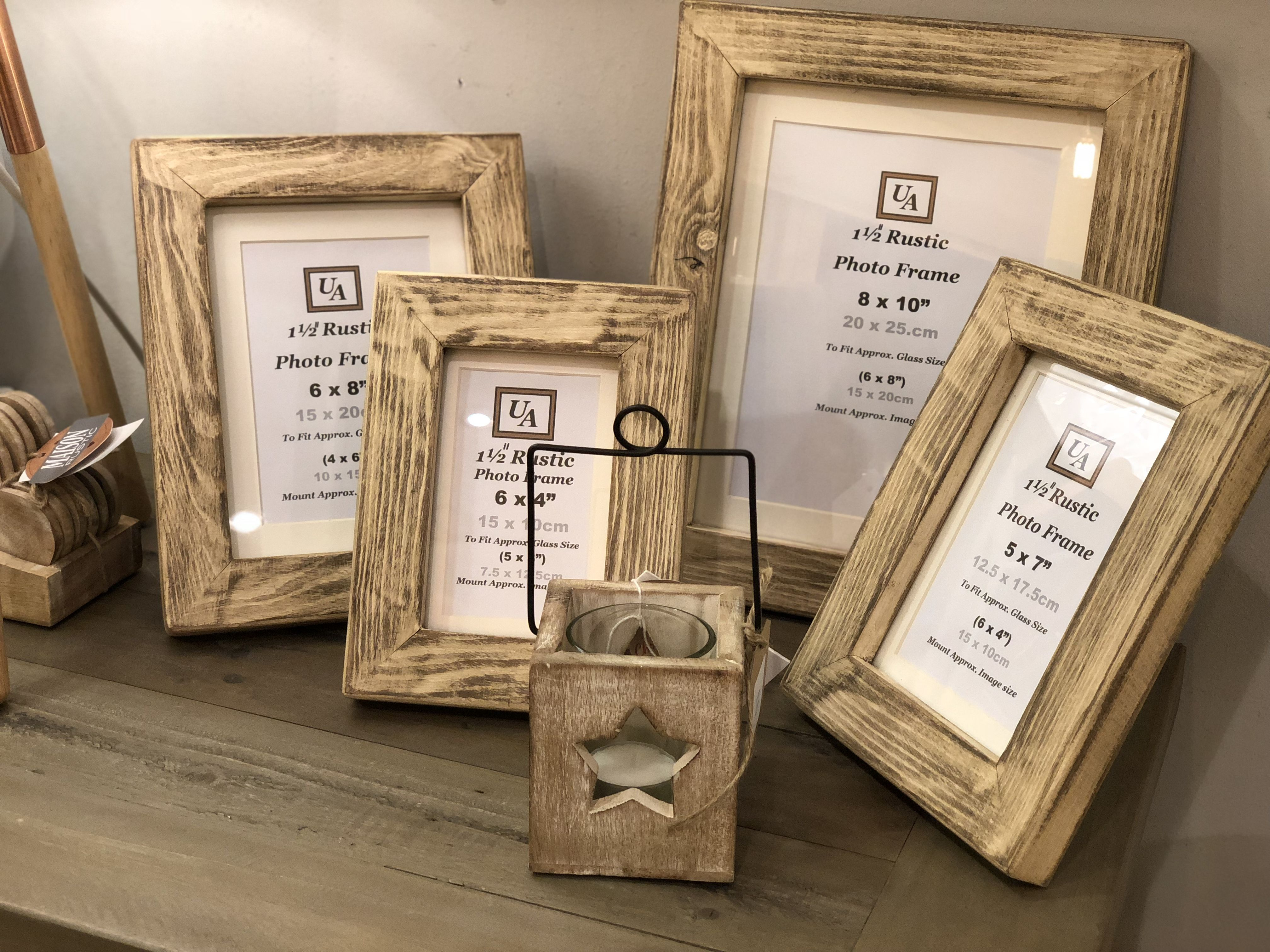 Rustic Handmade Wood Frames Frame Rustic Wall Sign Picture Frames