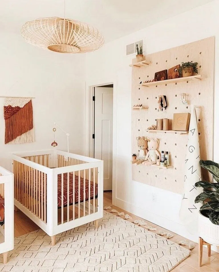 45 Modern Boho Neutral Nursery Room Reveal In 2020 Nursery Baby Room Baby Room Design Baby Room Decor