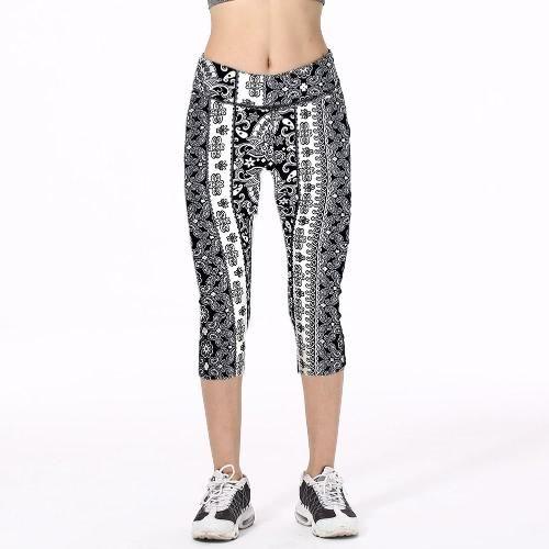0b12193e1ba6f #CHICUU - #CHICUU Fashion High Waist Printed Cropped Yoga Fitness Women's  Leggings - AdoreWe