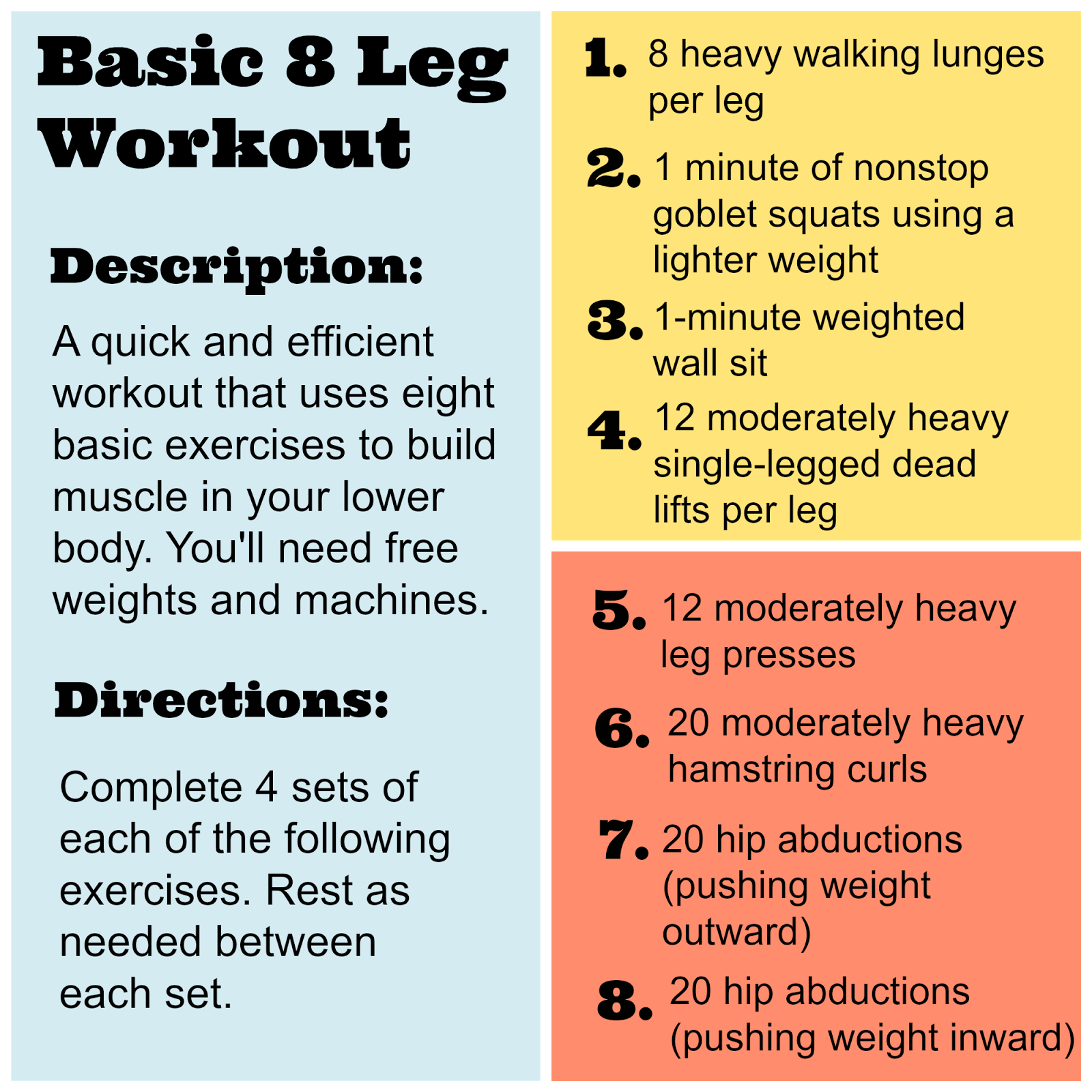 Simple Leg Training Workout For Beginners: Exercise, Motherfuckers