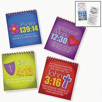 Amazon.com : JOY FOR JESUS SPIRAL COLOR PADS WITH STICKERS (1 DOZEN) - BULK : Toys And Games : Toys & Games(Prize Box)