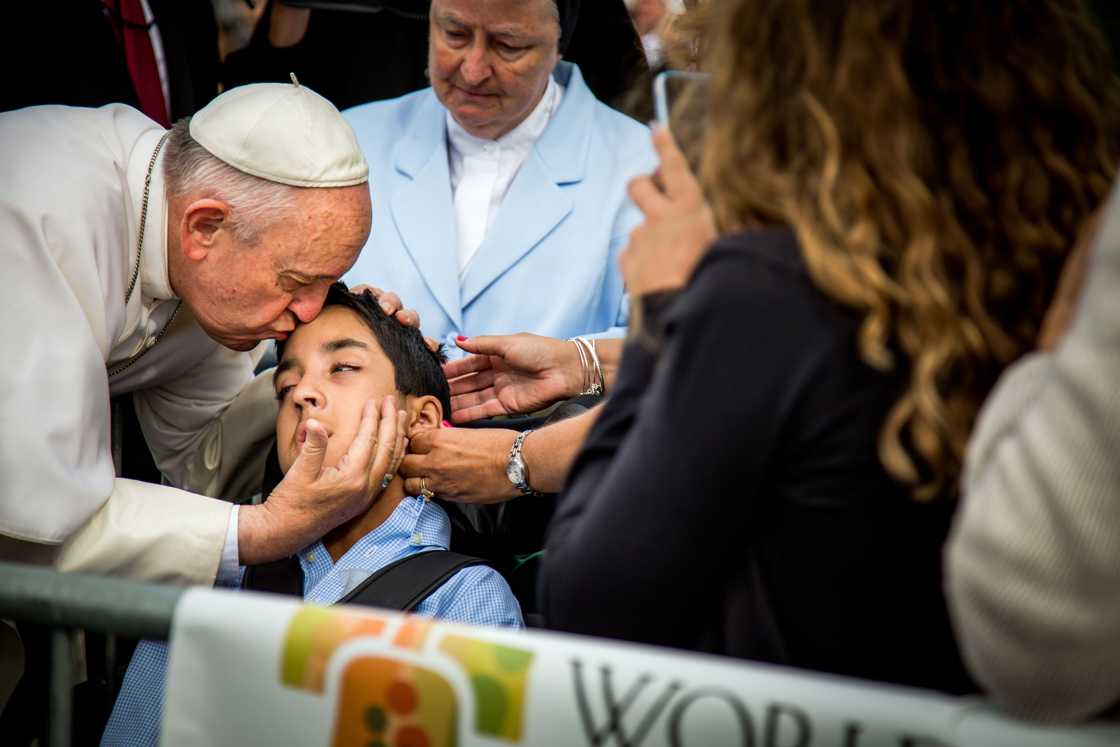 The World Saw Pope Francis Bless A Boy With Cerebral Palsy Here S