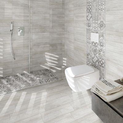 Piastrella villa h 20 x l 20 cm pei 4 5 grigio e bianco for Profili per piastrelle leroy merlin