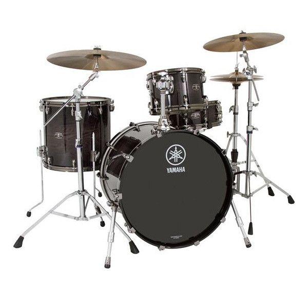 Yamaha Live Custom 12/16/22 3pc Drum Kit Black Shadow Sunburst