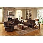 It's not only comfortable, it's incredibly affordable. Hello Oxford!  This 2-piece package includes a Dual-Reclining Sofa and Loveseat.  Plenty of room for relaxation and support.  Ergonomically scalloped designed seating for ultimate comfort.  Small scaled proportions provide big comfort for efficient living in cozy spaces.  Leather-look fabric combo is the latest in fashion and soft to the touch.    Transitional styling blends easily with any decor.  Coordinating Recliner also available…