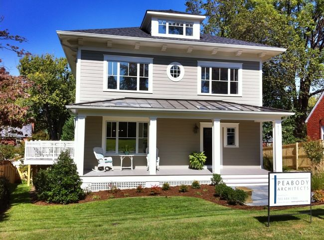The New American Foursquare Passive House Institute United States Square House Plans Passive House Passive House Design