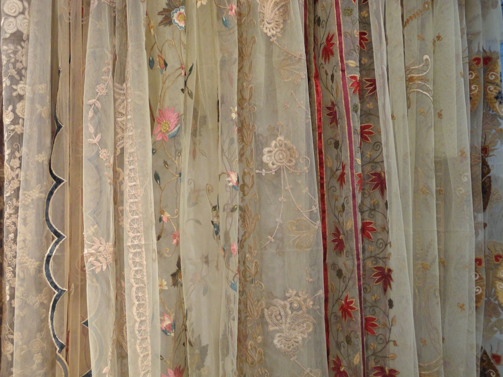 Designer curtain panels - Net Embroidery Designer Curtain Panels