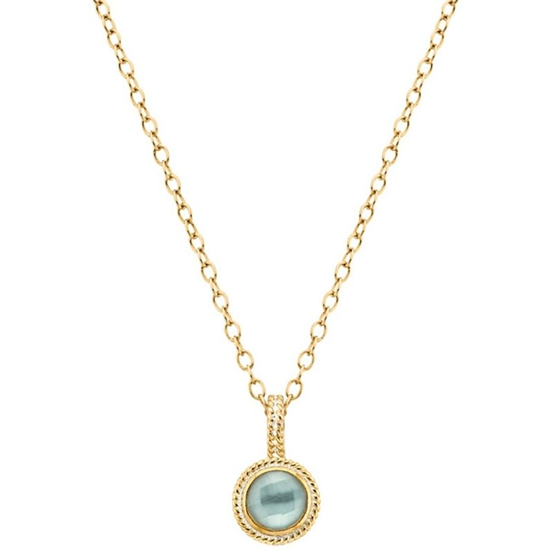 Anna Beck Aquamarine Drop Necklace @ Vermont Envy