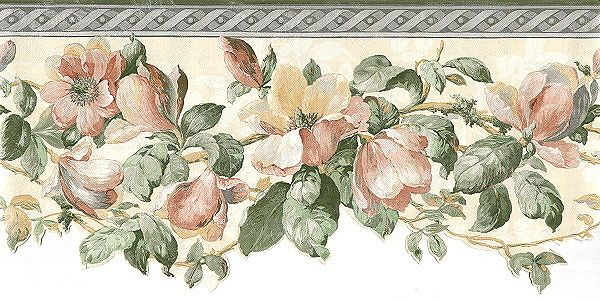 Silk Magnolias available at Kitchen wallpaper, Grey