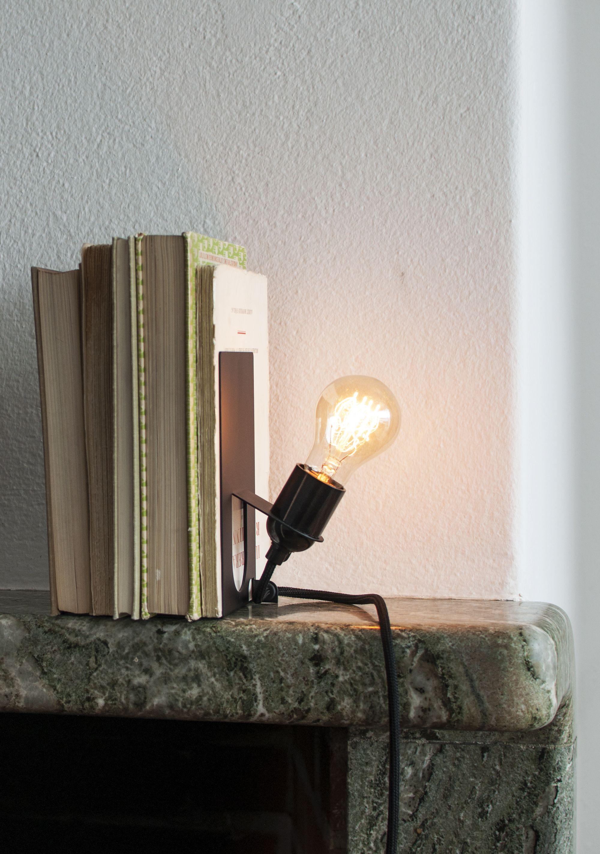 Beautiful Library Lamp In Black Coloured Metal. Multifunctional And  Decorative Bookshelf Lamp In Swedish Design