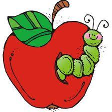 marco de manzana con gusano para colorear  Buscar con Google