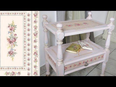 Decapare mobili ~ Tutorial come fare decoupage su mobili laccati con carta di riso