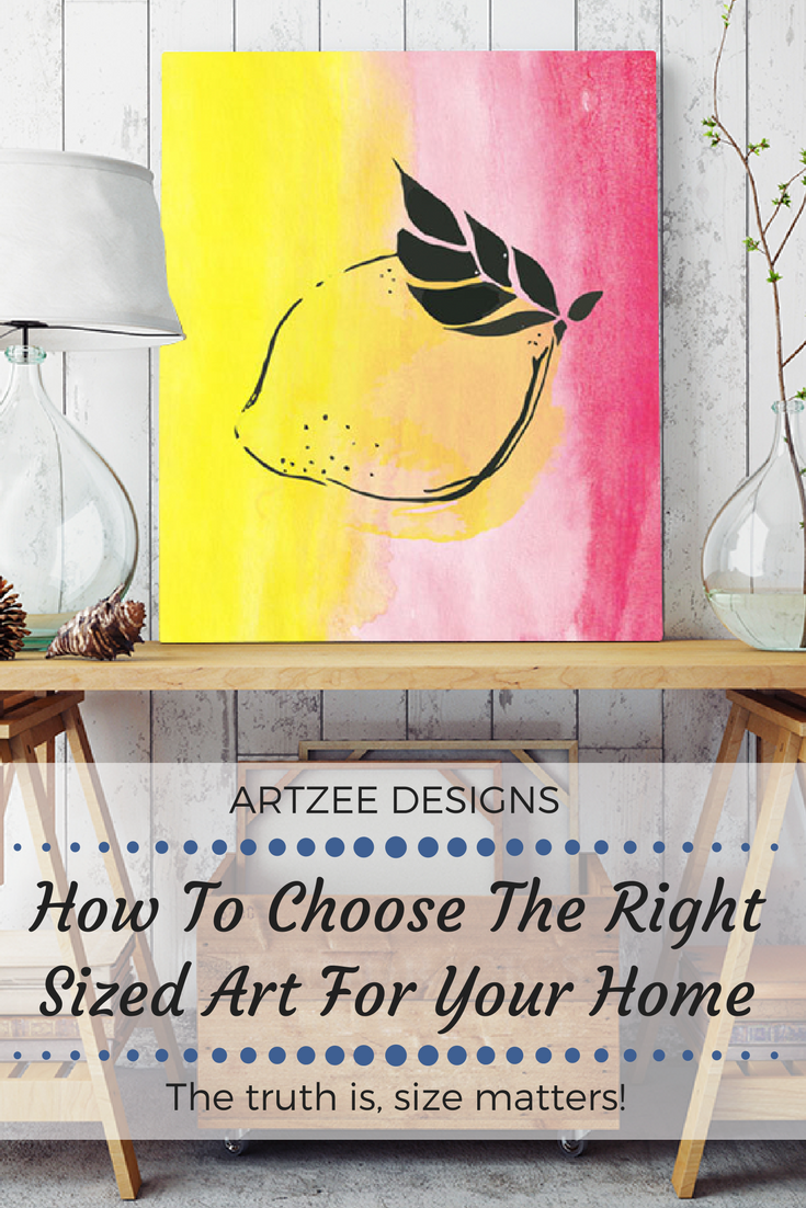 How to Choose the Right Sized Canvas Home Decor | Hanging art ...