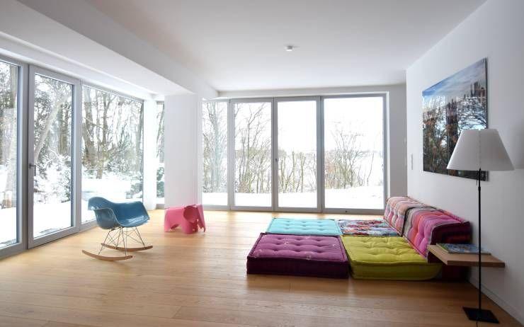 70er Jahre Bungalow bekommt modernes Facelifting Living rooms