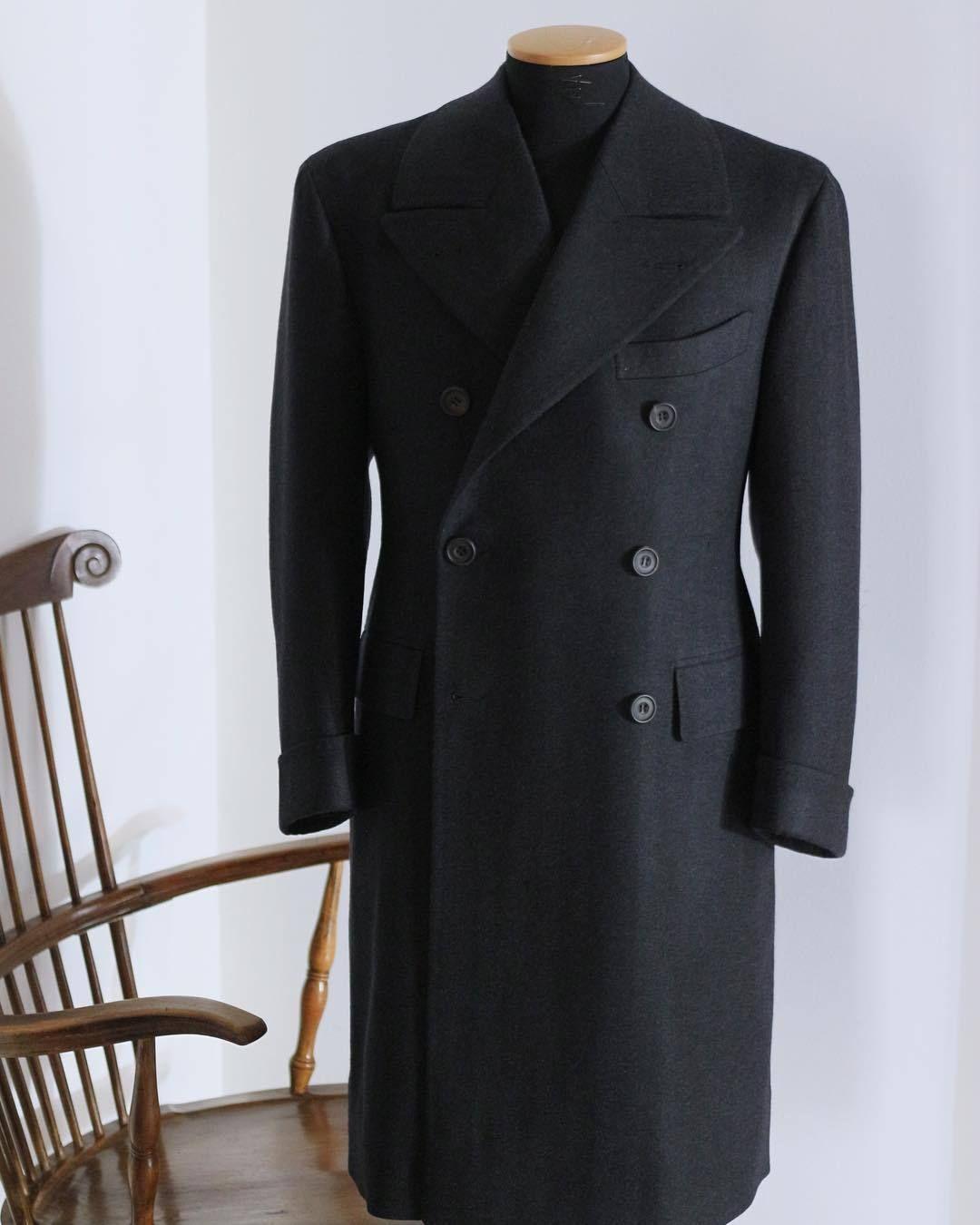 Charcoal Herringbone Windsor Collection Coat