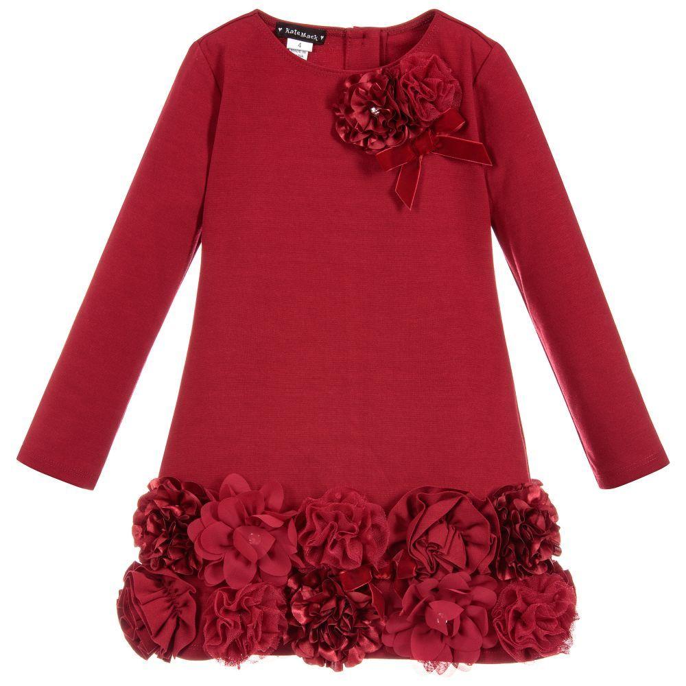 ca0158898d Kate Mack   Biscotti - Red Roses Jersey Dress