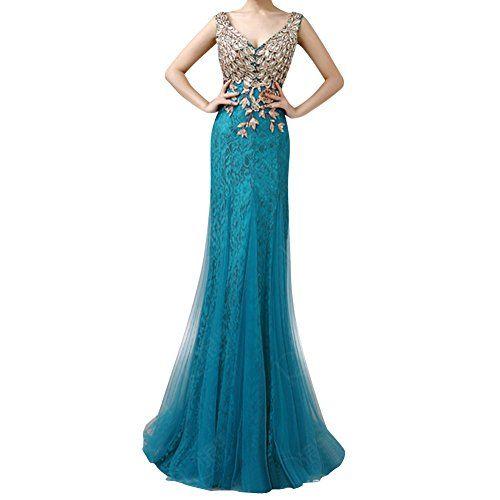 Peacock Rhinestone Prom Dresses