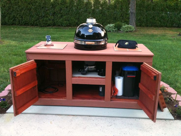 Weber Grill Cart Diy Woodworking Projects Plans Outdoor