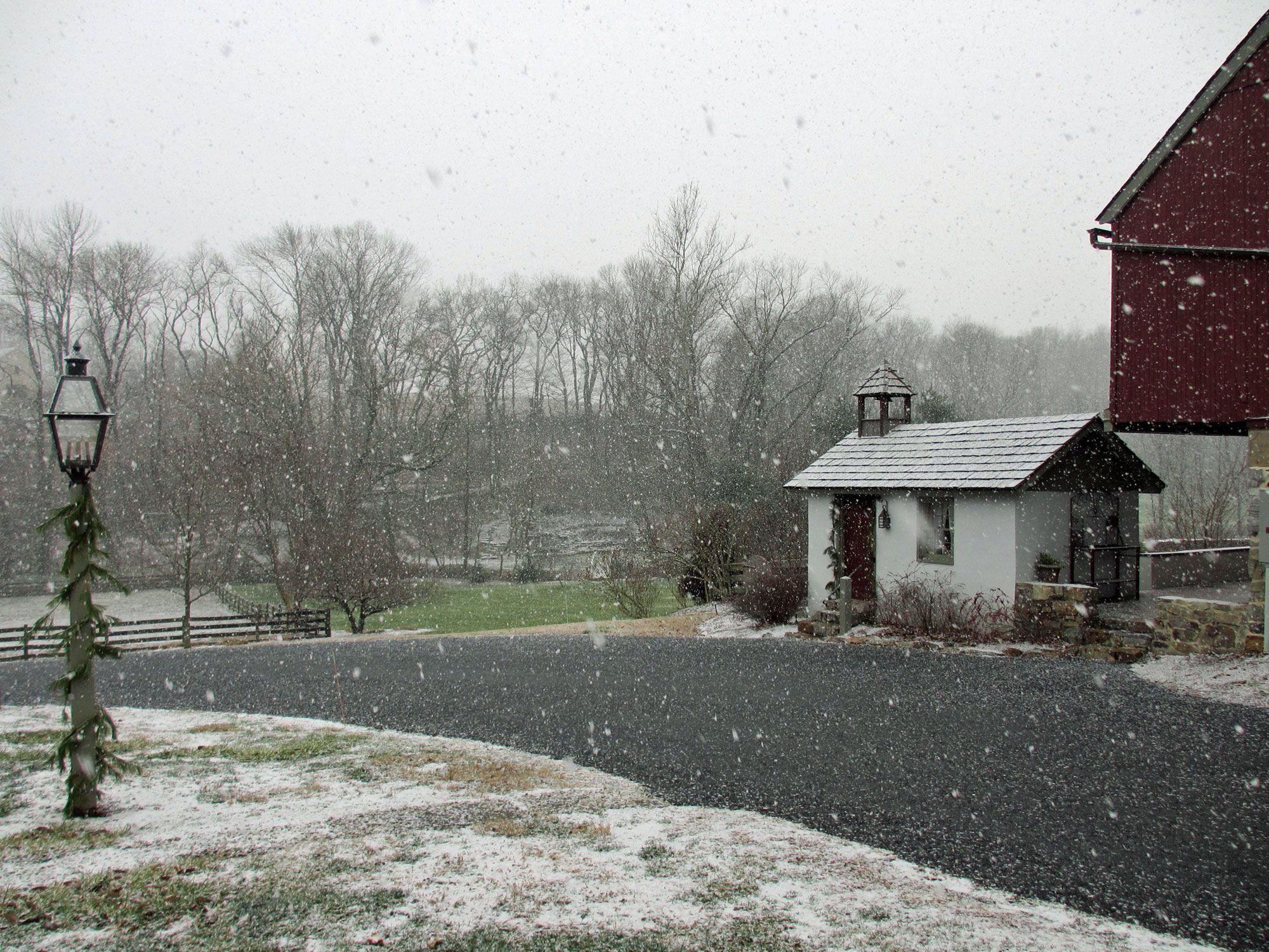 Pheasant Run Farm Bed and Breakfast in winter http//www