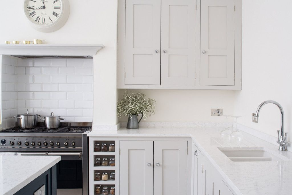 Best Open Plan White Shaker Kitchen Bright Open Plan Family 640 x 480