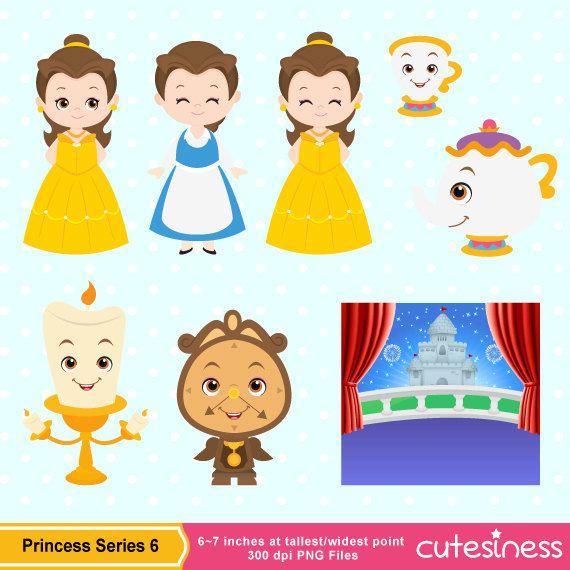 Beauty Beast Clipart Etsy Beauty And The Beast Disney Scrapbook Clip Art