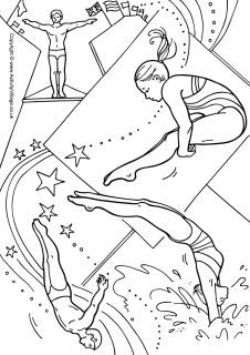 Diving Coloring Pages Sports Coloring Pages Coloring Pages Winter