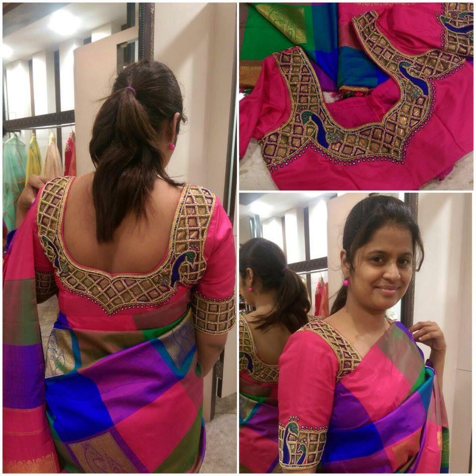 Saree blouse design cutting cut work blouse  designer blouses  pinterest  cut work blouse
