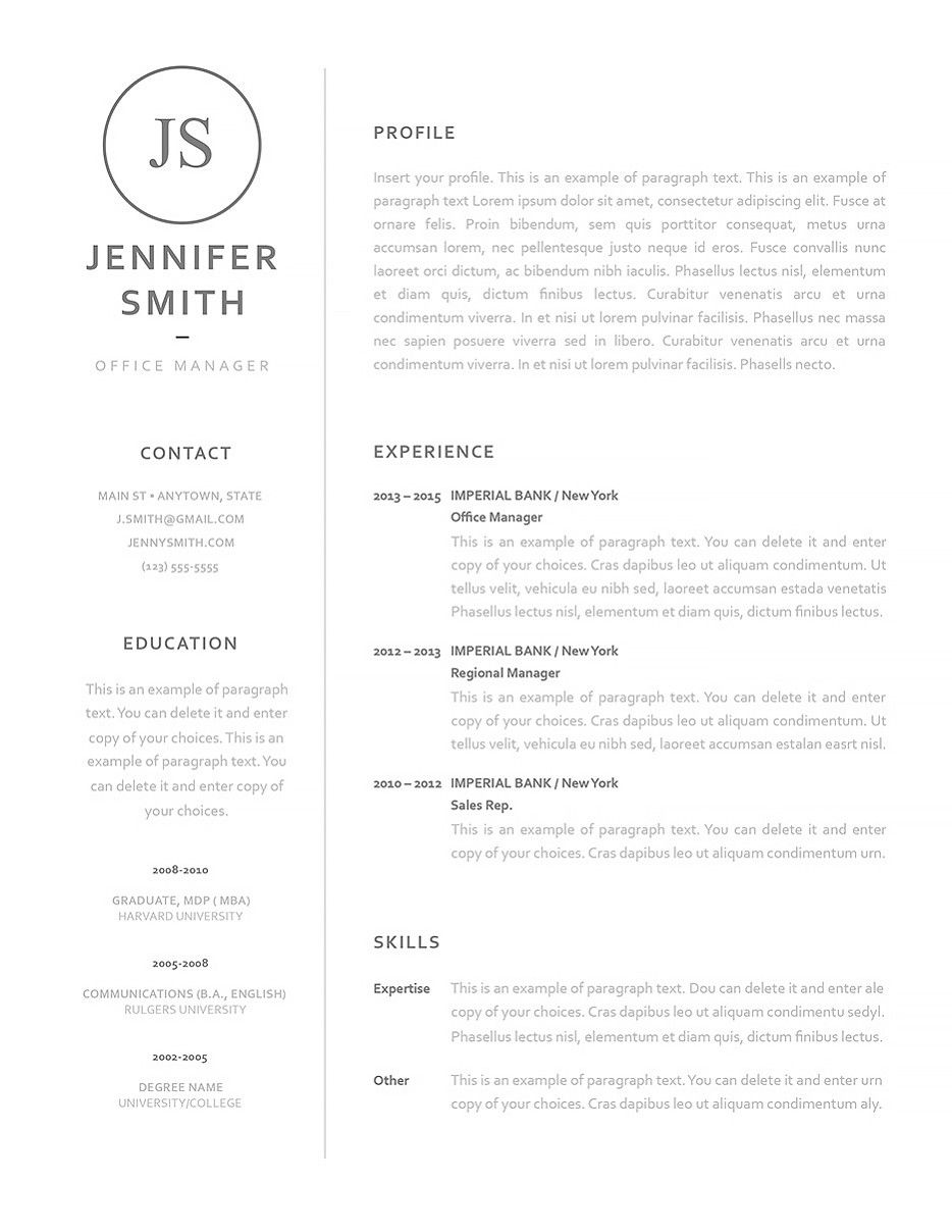 Resume Templates Microsoft Word 2013 Resume Template  Ms Word Resume Templates  Pinterest  Template .