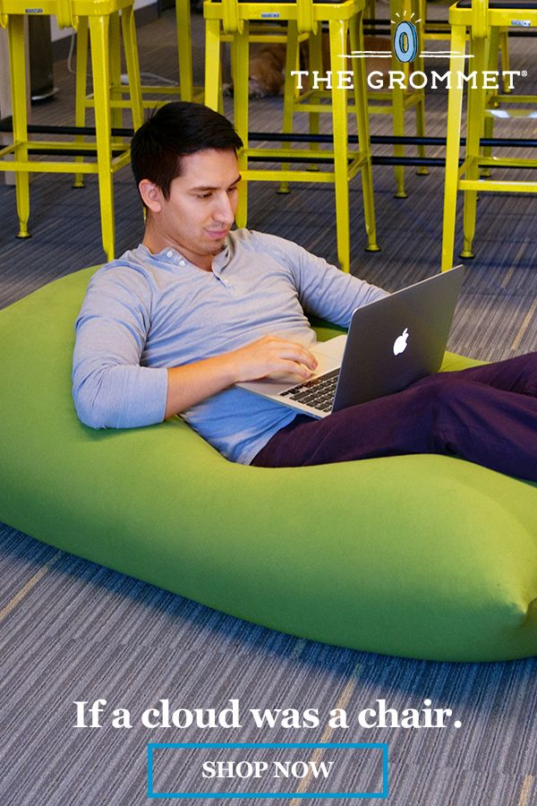 Bean bag and lounge chair. Filled with nearfrictionless