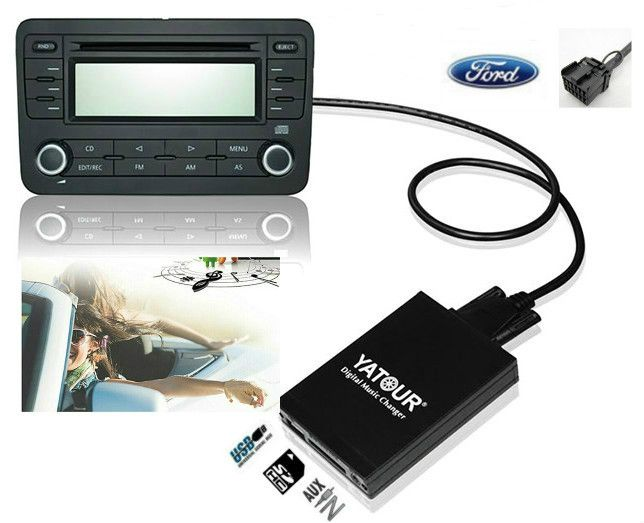 Yatour Digital Music Changer For Ford Explorer Focus Mk1 Fiesta Mk4 Europe 5000rds 6000cd Rds 12 Pin Mp3 Interface Adapter Digital Music Toyota Camry Camry