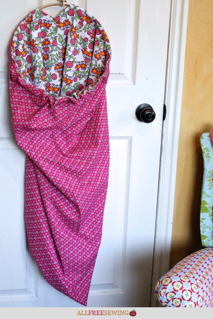 Diy Hanging Laundry Bag Reversible Hanging Laundry Bag