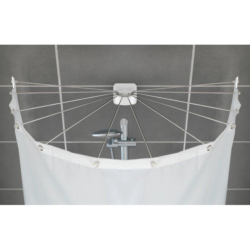Wenko 96cm U Shaped Fixed Shower Curtain Rod Wayfair Co Uk
