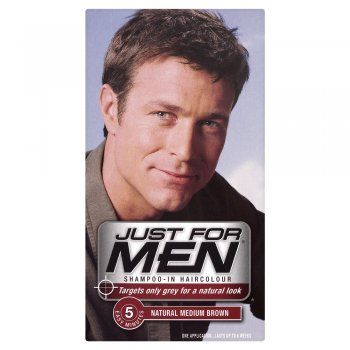 Just For Men Shampoo In Haircolour Natural Medium Brown (H-35)  £6.85 (FREE UK Delivery)  http://www.123hairandbeauty.co.uk/hair-products-c1/mens-c8/just-for-men-just-for-men-shampoo-in-haircolour-natural-dark-brown-black-h-45-p521