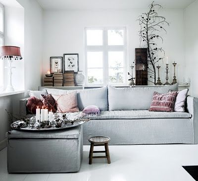 Just the idea of the shelf behind the sofa for tiny living room.