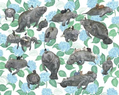 Vegans Manatees N Bunnies Giclee Signed Limited Edition Of 150