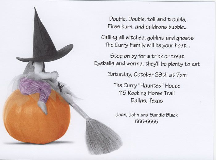 Image detail for -Halloween Party Invitations, Halloween baby ...