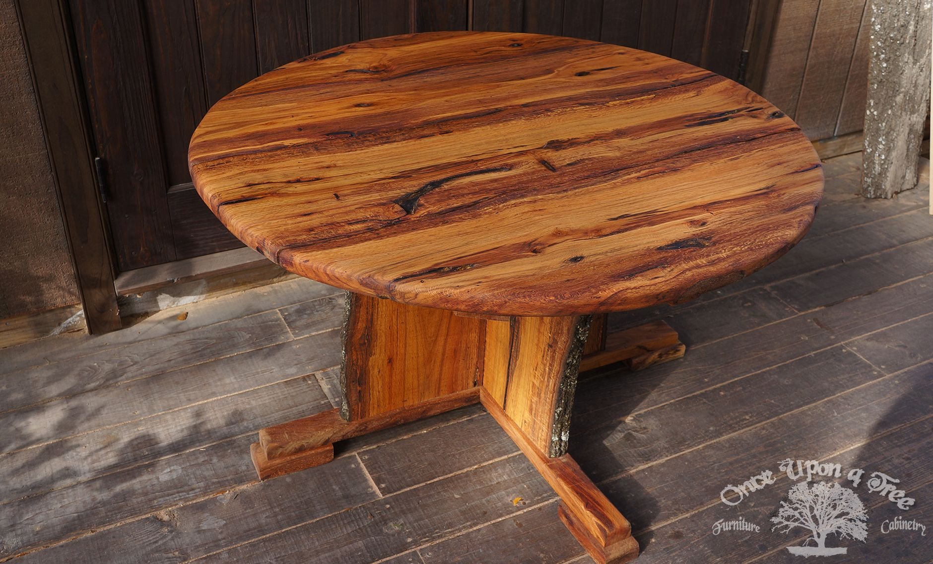 48 Swamp Oak Picnic Table Made From 1 Tree That