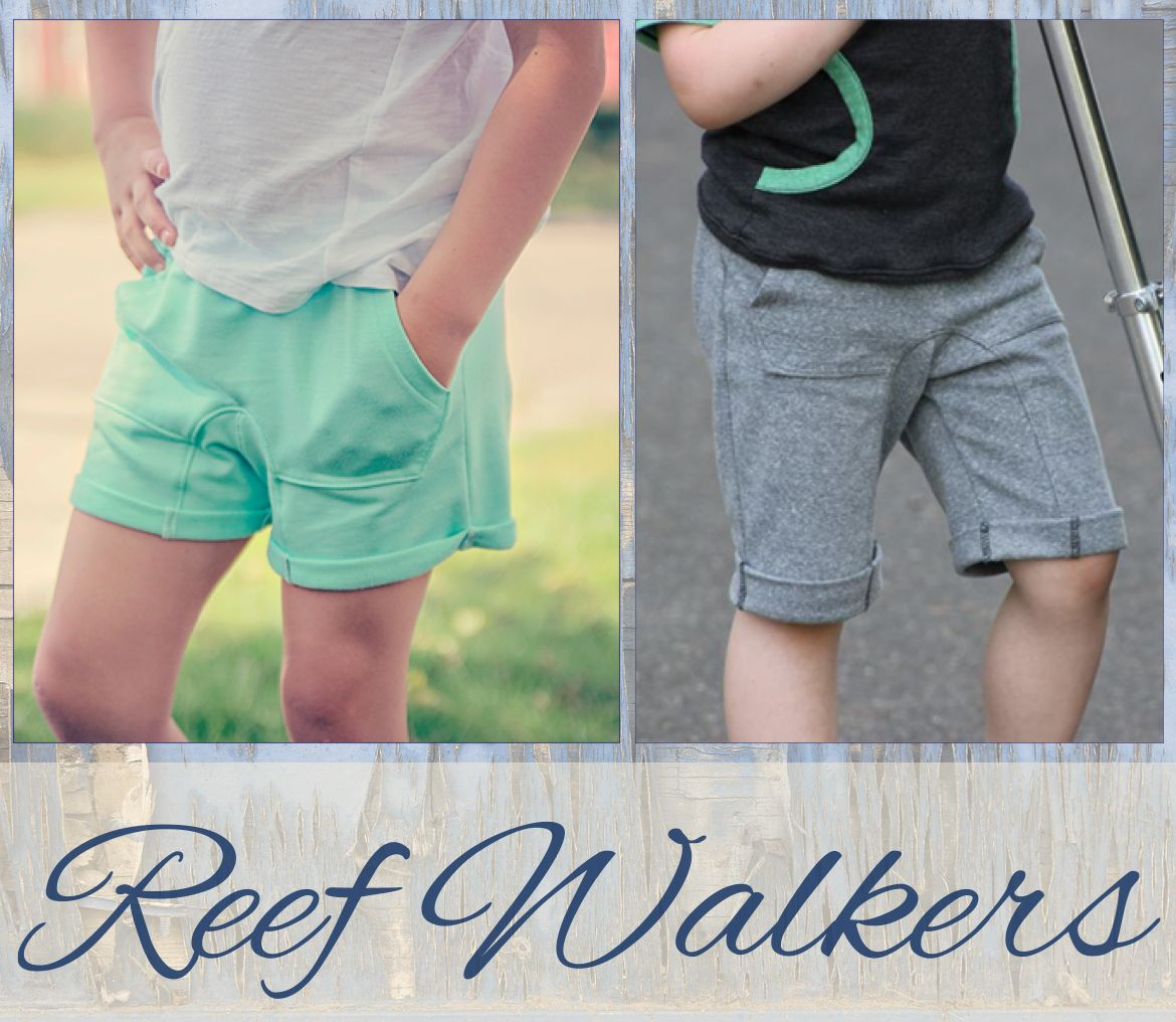 Awesome knit shorts pattern for boys and girls! Lounge around in ...