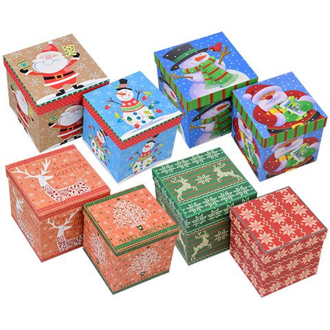 Bulk Christmas House Assorted Gift Boxes At Dollartree Com Dollar