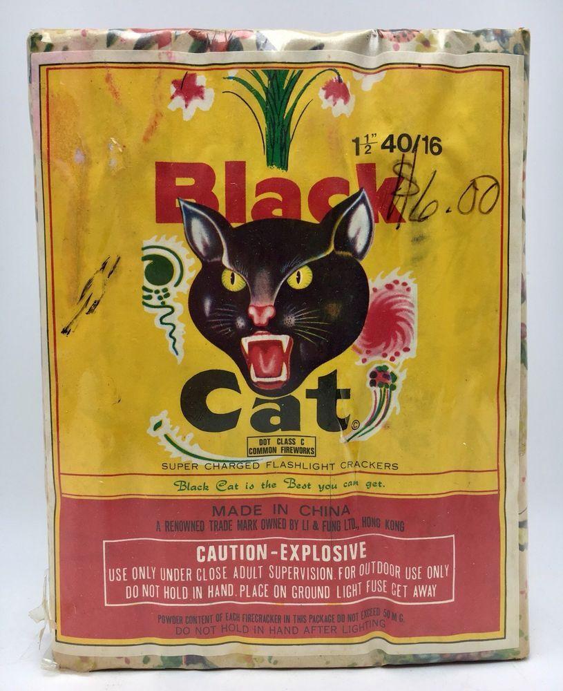 Vintage Black Cat Supercharged Flashlight Firecracker