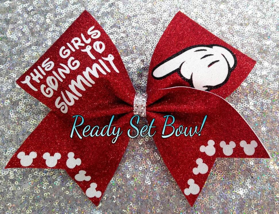 This Girls Going To Summit Glitter Cheer Bow by ReadySetBows on Etsy https://www.etsy.com/listing/287057729/this-girls-going-to-summit-glitter-cheer
