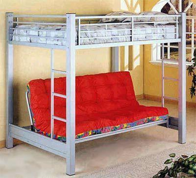 Full Size Loft Bed W Full Futon Under Small Bedroom