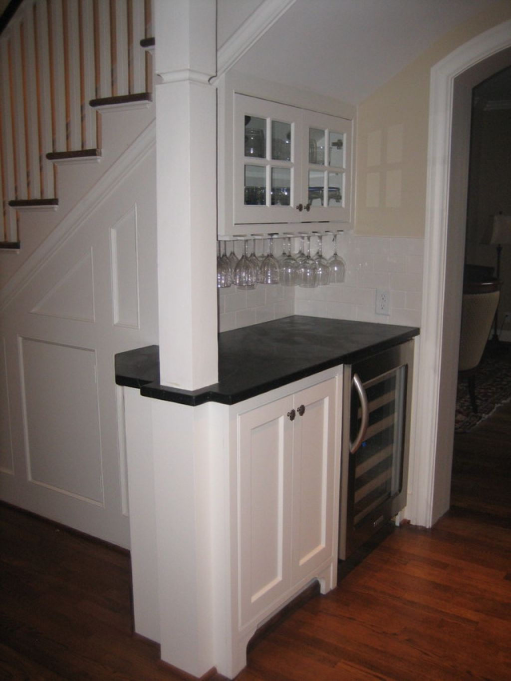 Interior Mini Bar Under Stairs For Maximizing Limited Space In | Mini Bar Design Under Stairs | Stairs Cupboard | Basement Remodeling | Wine | Storage | Basement Stairs Ideas