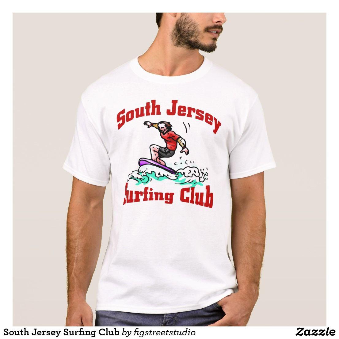 South Jersey Surfing Club T Shirt Zazzle Com T Shirt Shirts Mens Tops
