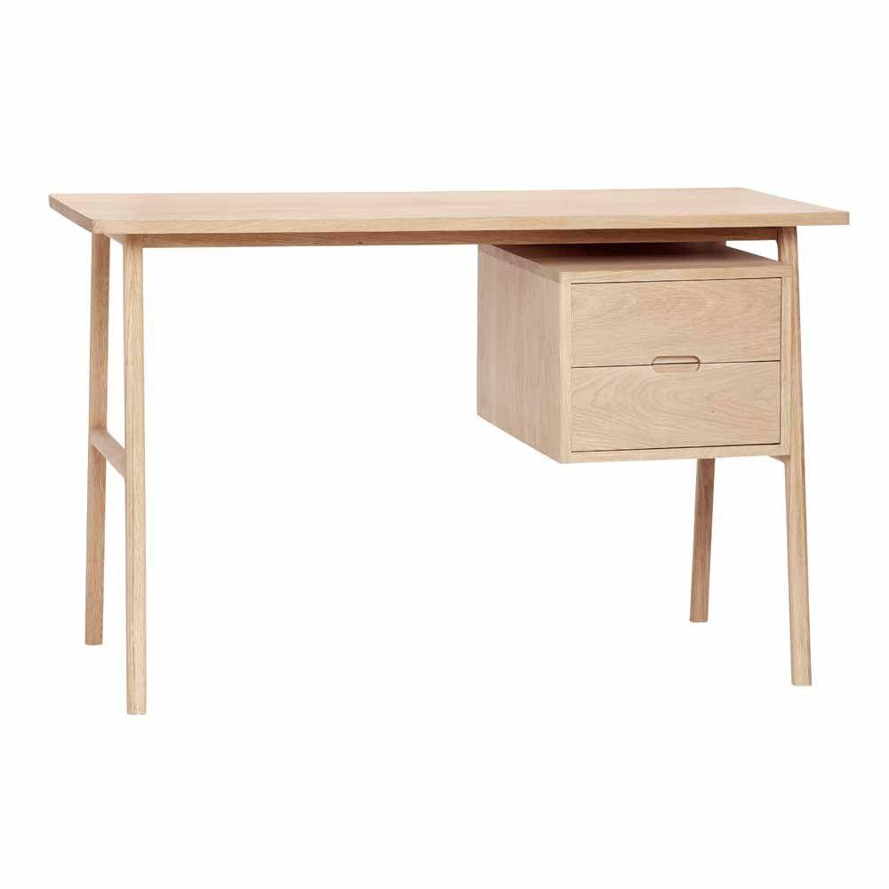 Schreibtisch Aus Heller Eiche Bei Milanari Com Schreibtischideen Skandinavische Mobel Hubsch Interior