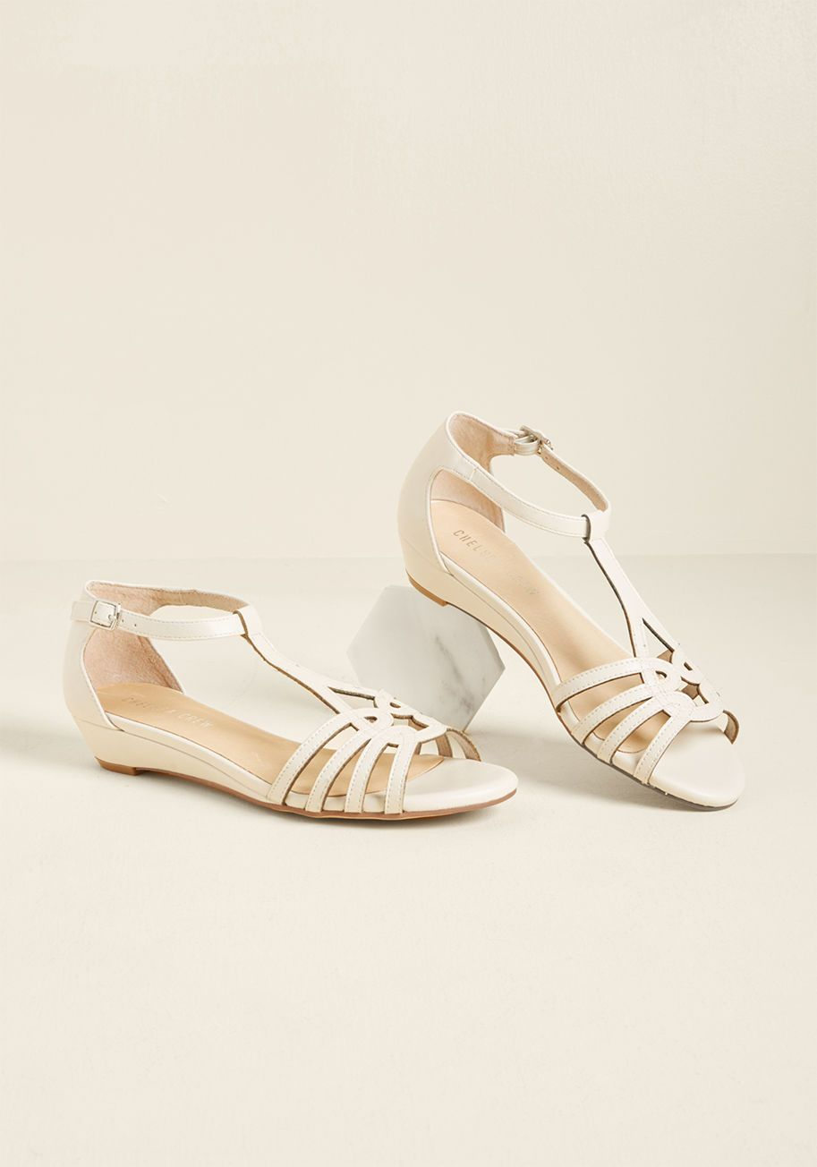 30e45499d02058 Chelsea Crew Wanna Prance With Somebody Sandal in Ivory