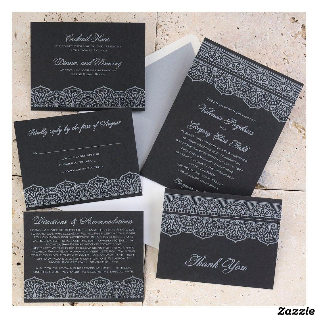 Moroccan Wedding Invitation Suite Wedding